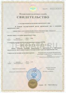 Свидетельство ОГРН | ООО TЕКДАТА